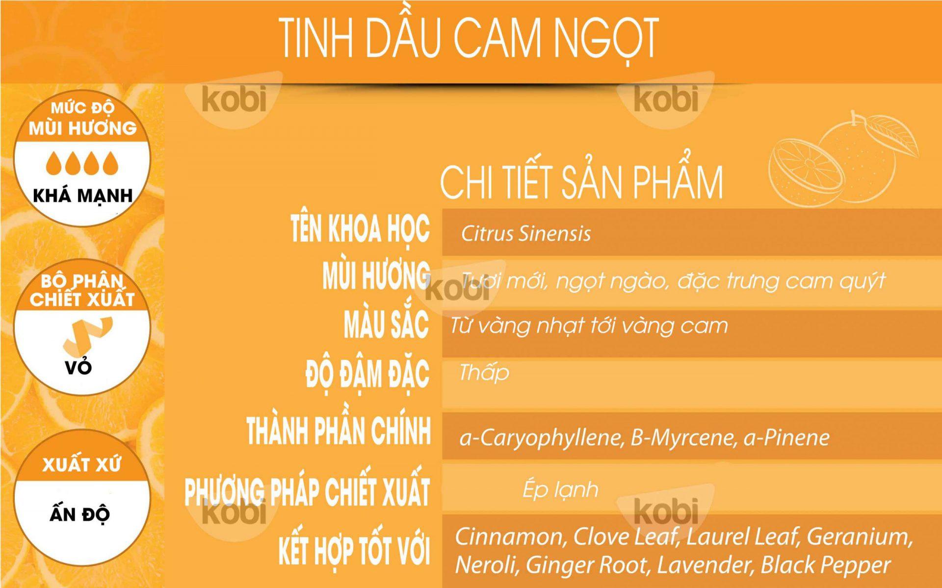 Tinh dầu cam ngọt Kobi (Orange essential oil)