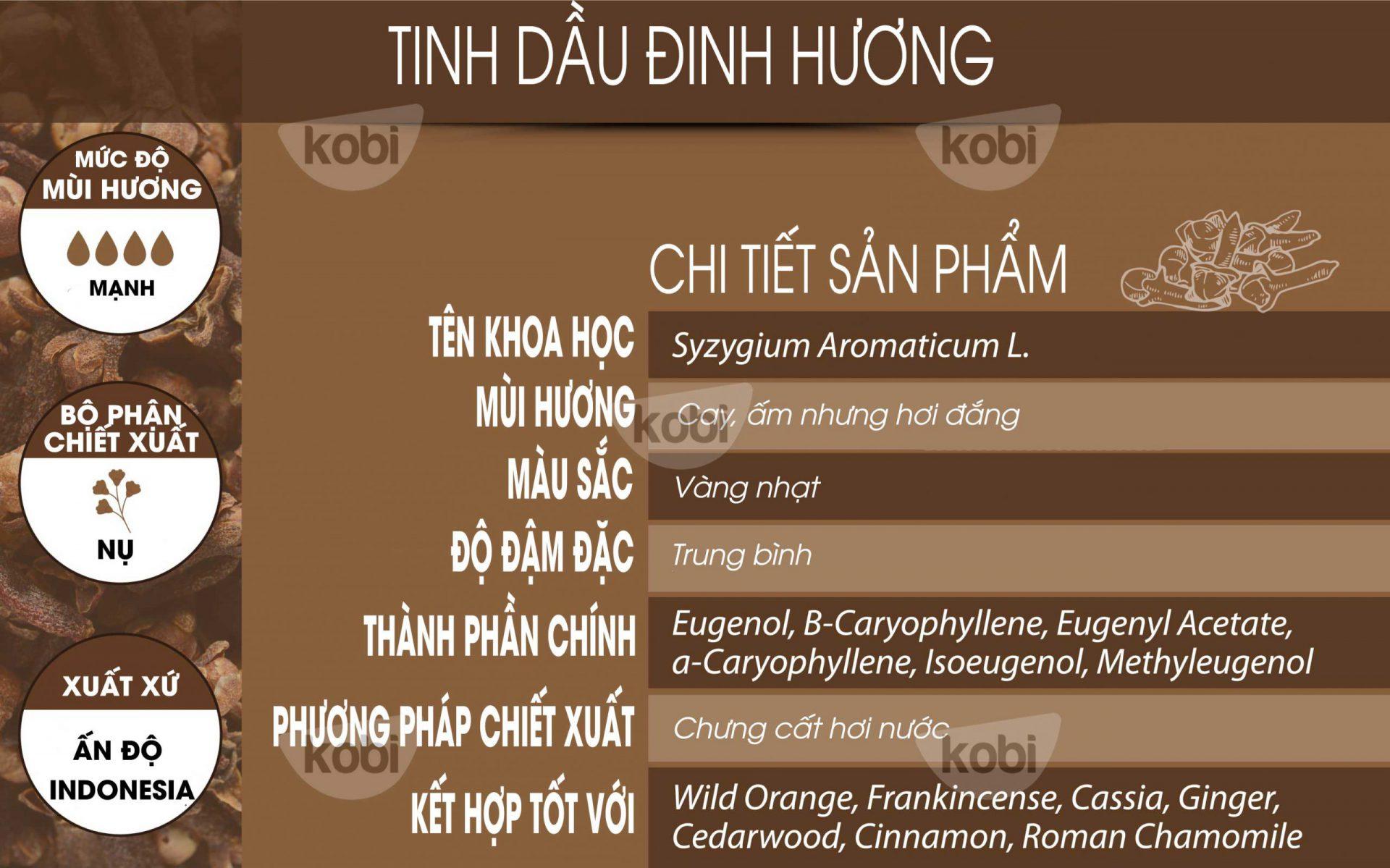 Tinh dầu đinh hương kobi (clove essential oil)