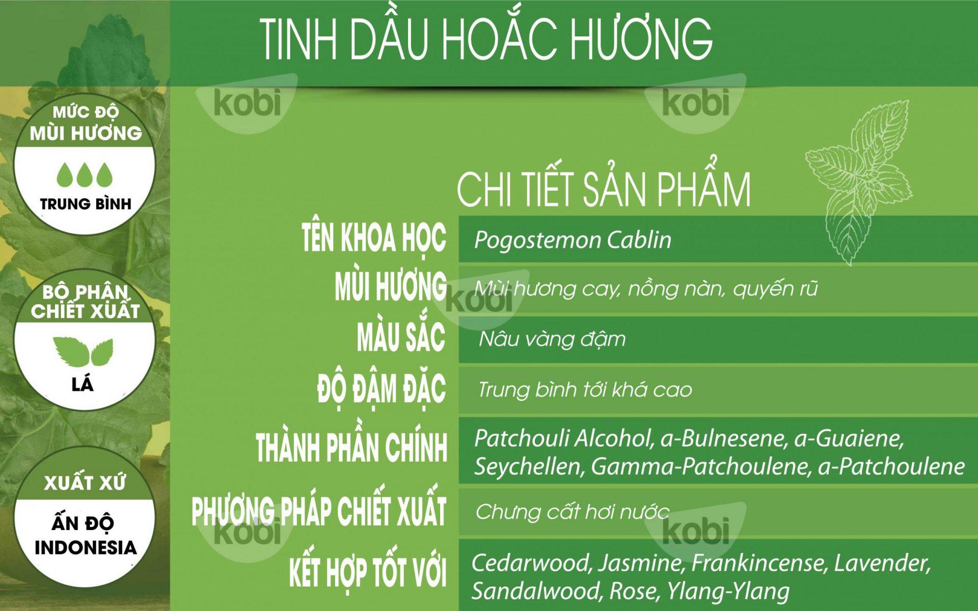 Tinh dầu Hoắc Hương patchouli essential oil