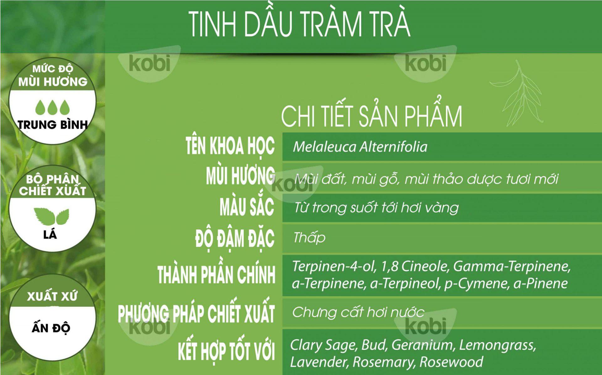 tinh dầu tràm trà kobi (tea tree essential oil)