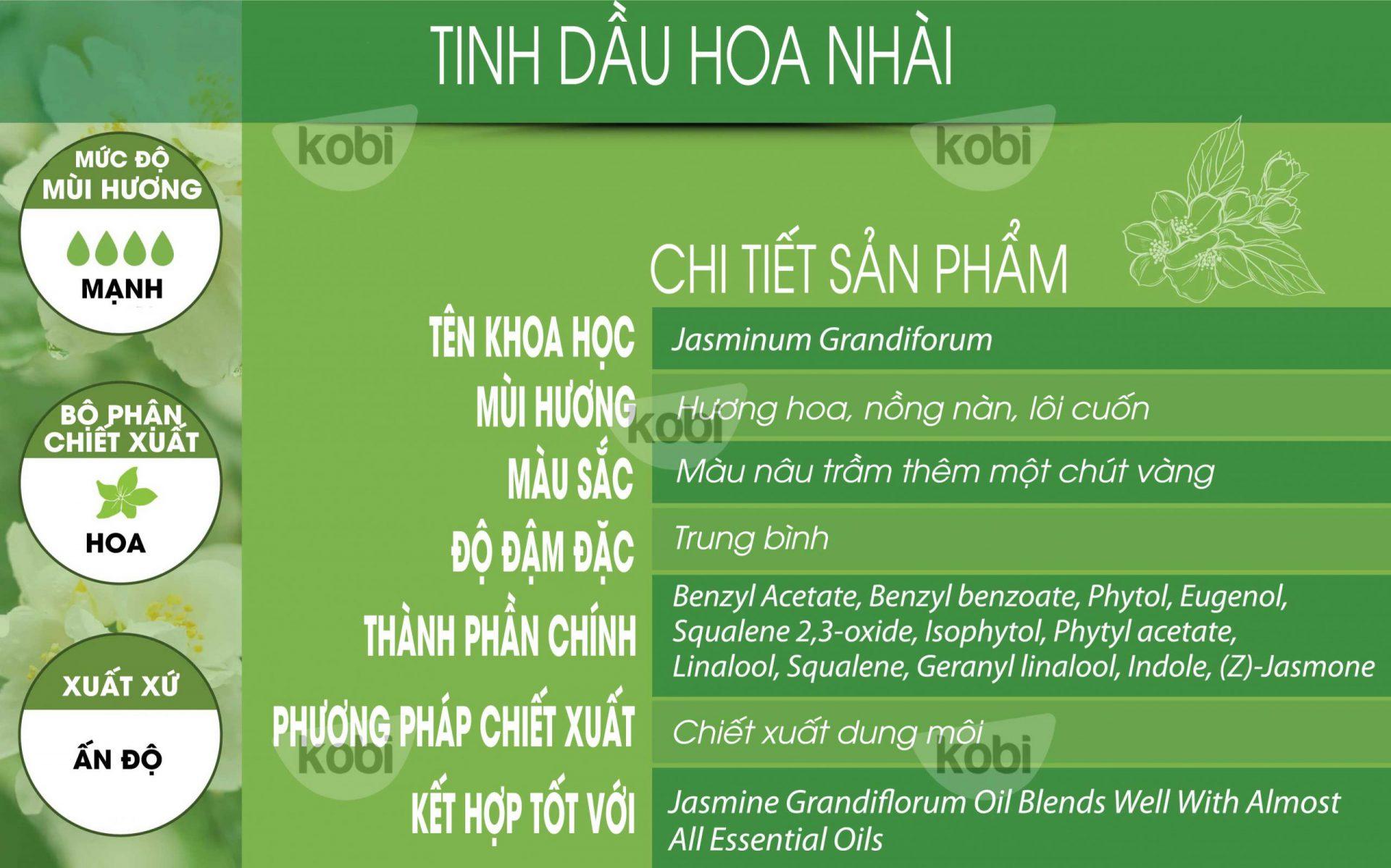 Tinh dầu hoa nhài Kobi (Jasmine essential oil)