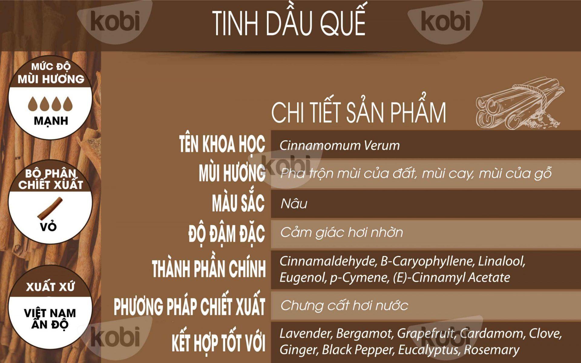 Tịnh dầu quế Kobi (Cinnamon essential oil)